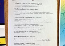 Workshop Schedule Posted